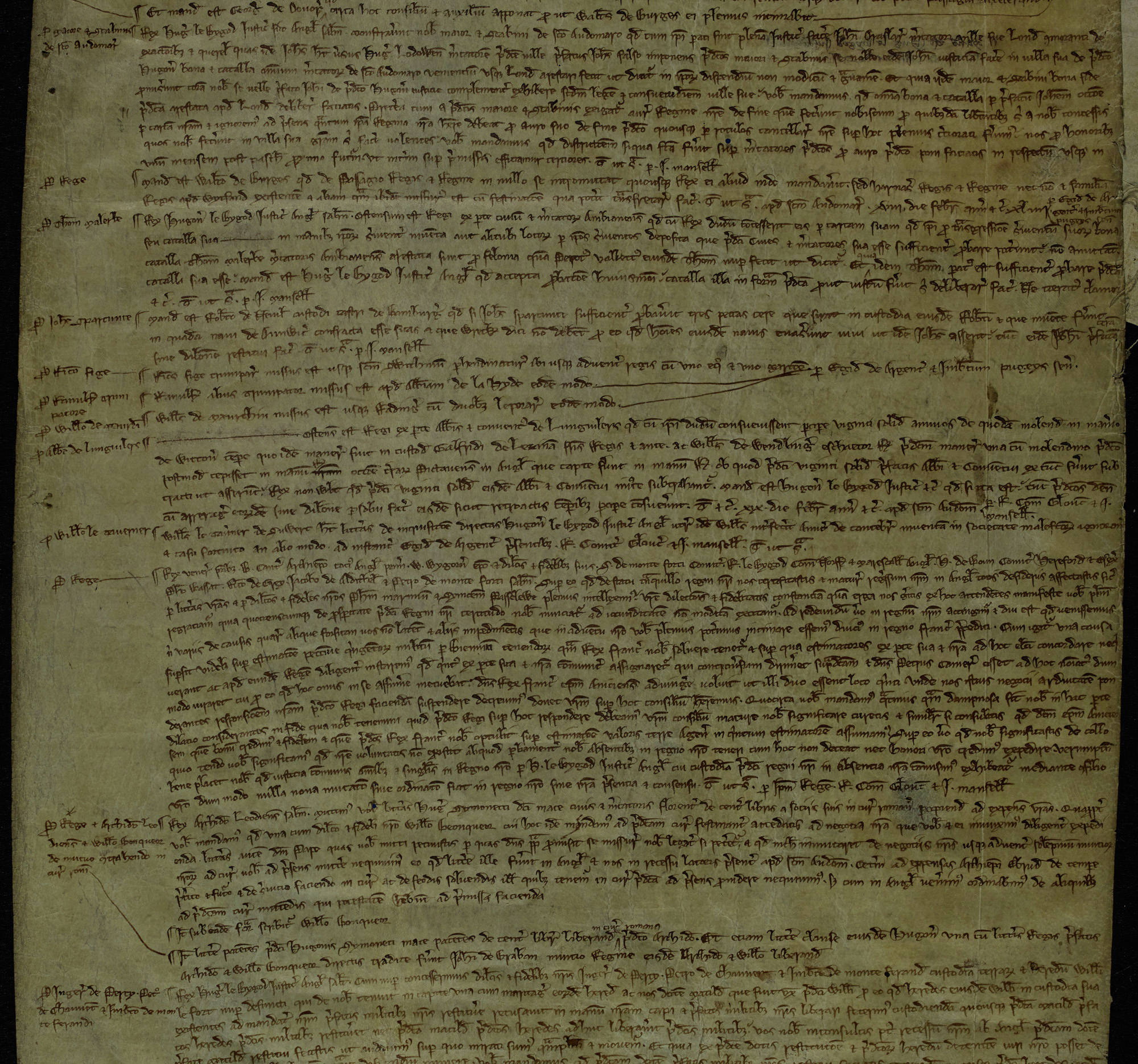 Study a letter from King Henry III to the Archbishop of Canterbury