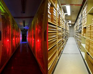 Borthwick Institute - an image of a digital archive and a traditional repository, side by side