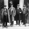Leaders of the Miners' Federation of Great Britain leave 10 Downing Street on 11 March 1926