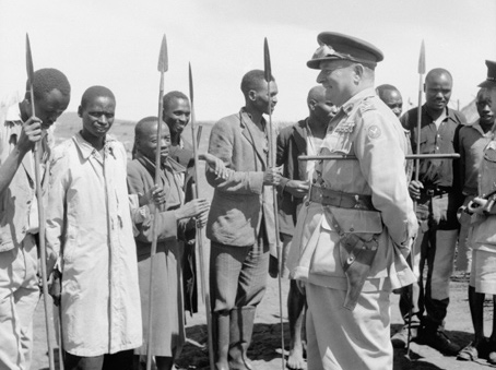 Lieutenant General Sir George Erskine, Commander-in-Chief of East Africa, in Kenya.