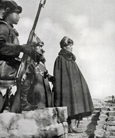 In 1931 General Yorita watches the entry of Japanese assault troops into Manchuria.