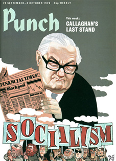 On 29 September 1976 problems facing the Prime Minister, James Callaghan, are illustrated on the front cover of Punch magazine.