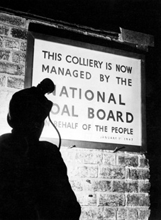 The National Coal Board takes possession of Britain's mines on 1 January 1947.