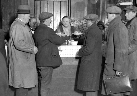 In the 1930s, Lady Clough Anson ran a canteen for unemployed workers at Waterloo Road in London.