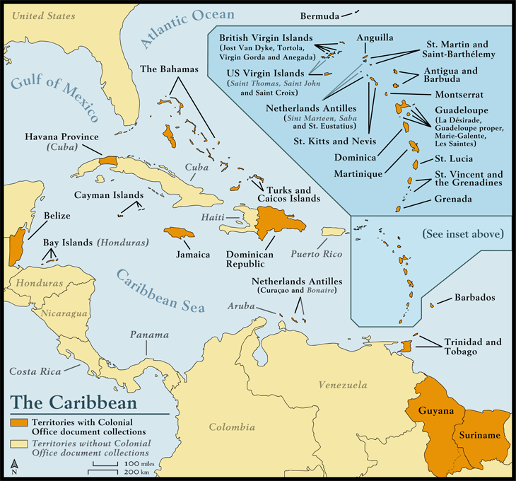 Caribbean Histories Revealed Map Of The Caribbean - Us and caribbean map