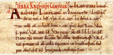 Domesday entry for Broadwater, Hertfordshire.  Catalogue reference: E 31/2/1 f.133.  Digital Images and Translation reproduced by kind permission of Editions Alecto Limited