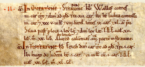 Domesday entry for Market Overton, Rutland.  Catalogue reference: E 31/2/1 f.293v.  Digital Images and Translation reproduced by kind permission of Editions Alecto Limited