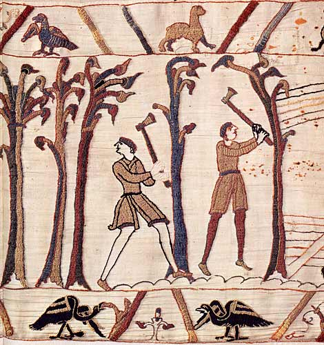 Detail of the Bayeux Tapestry – 11th  century; by special permission of the City of Bayeux