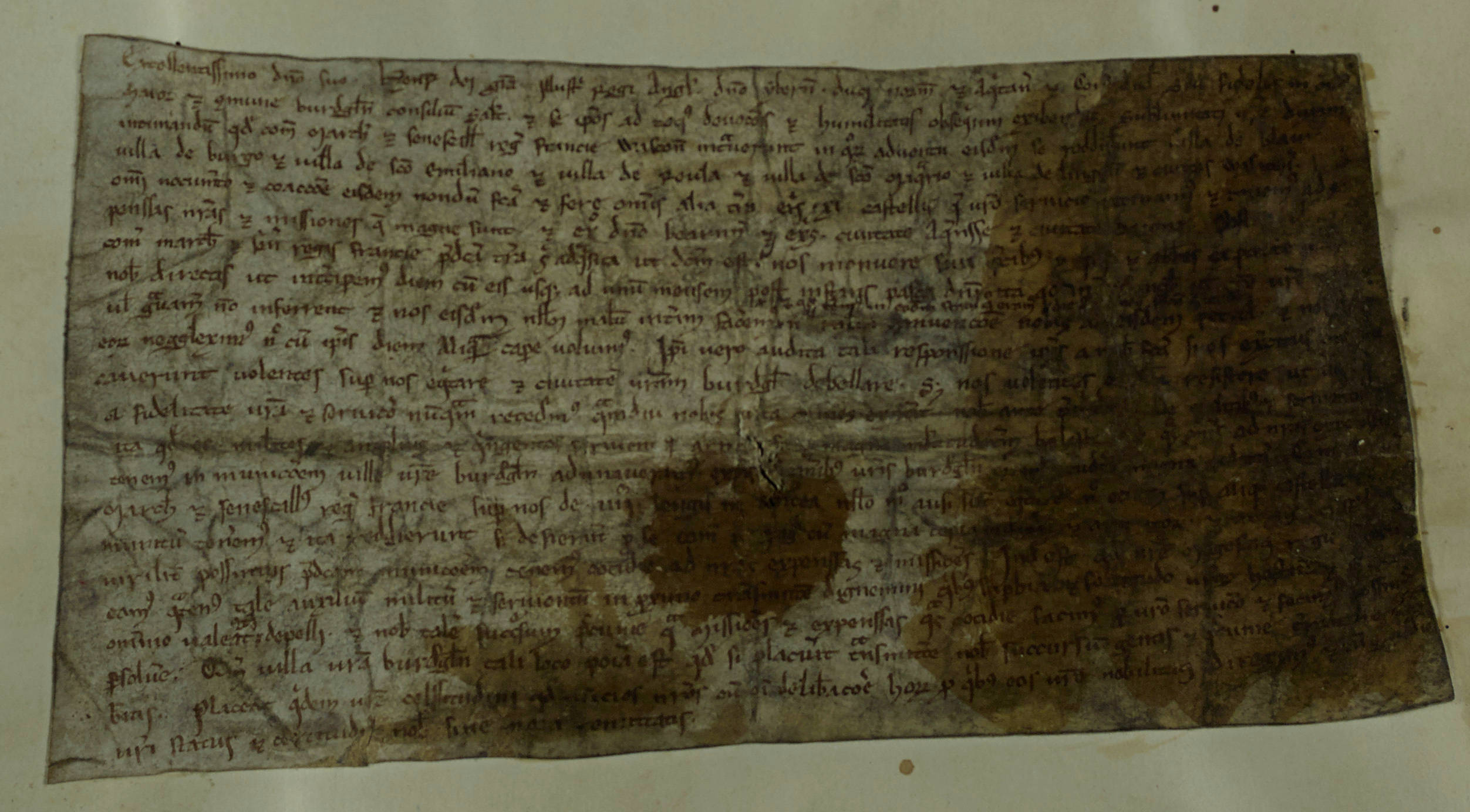Study a letter from the Mayor of Bordeaux to Henry III