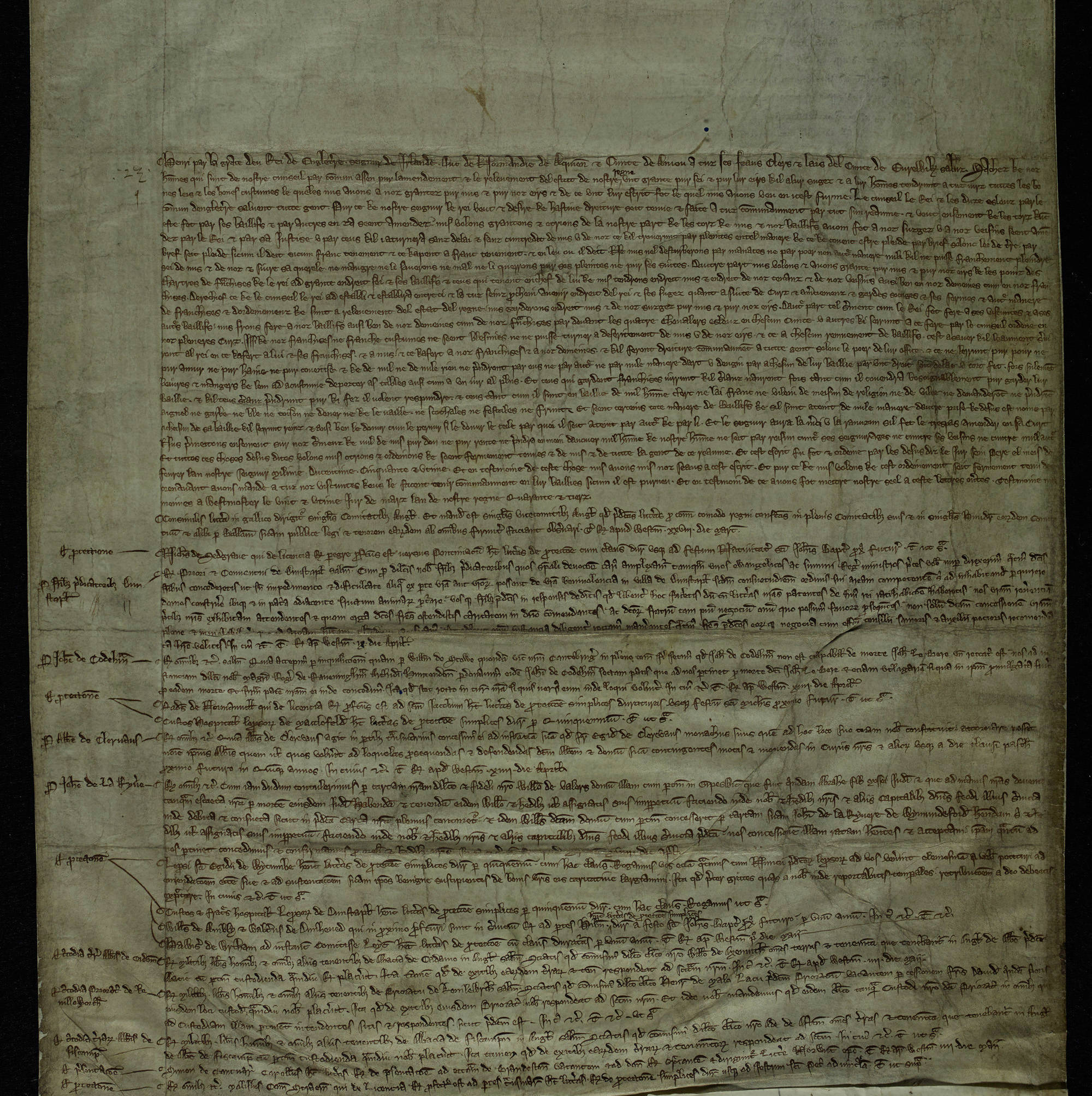 Study the Ordinance of the Magnates (great barons) published by Parliament
