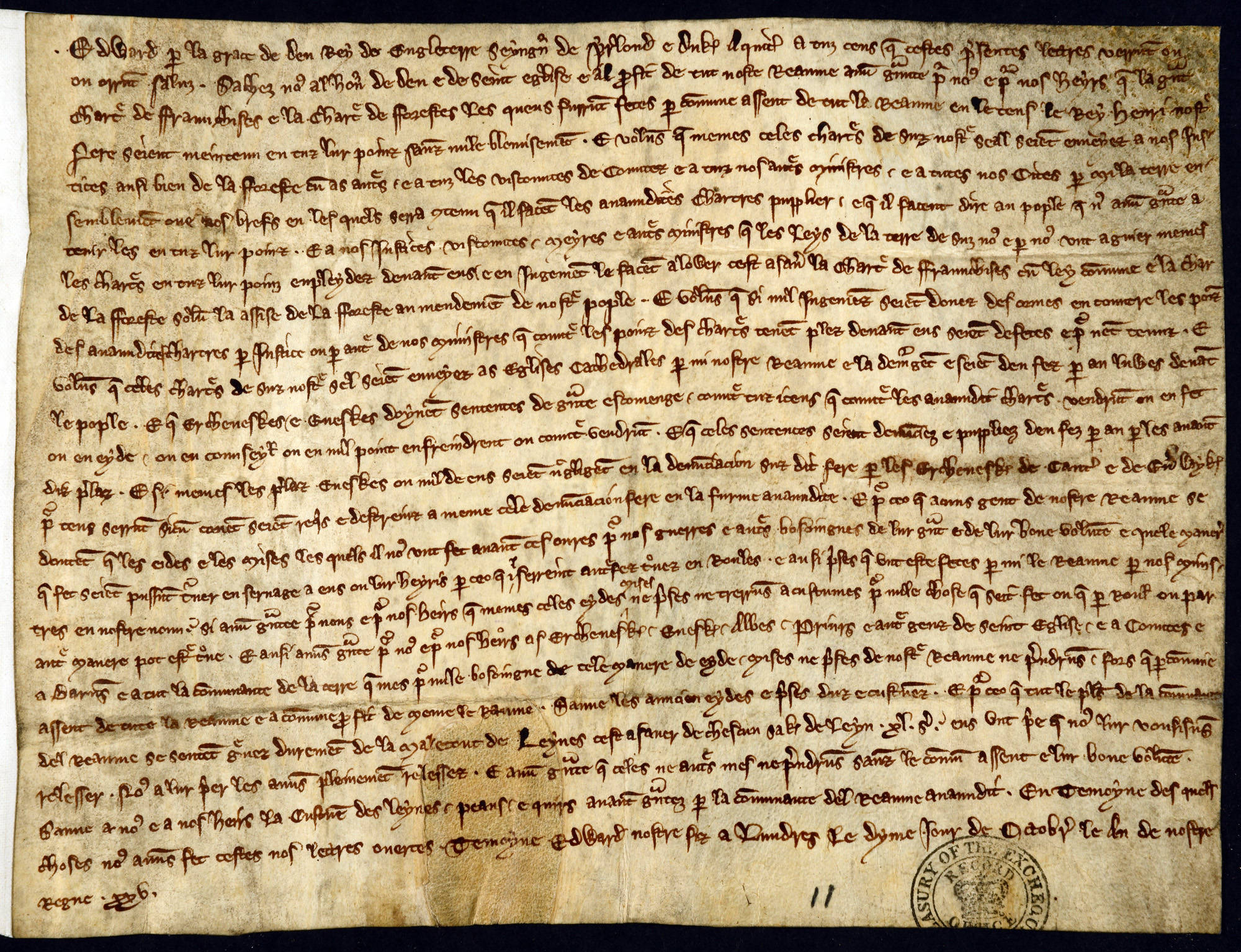 Study Edward I's confirmation of Magna Carta 1297