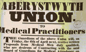 Poor law record, Aberystwyth Union poster (catalogue reference: MH 12/1576)