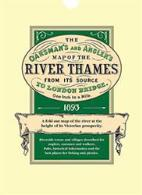 Oarsman's & Angler's Map of the River Thames From Its Source To London Bridge 1893