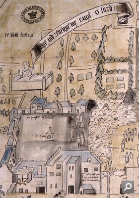 Closeup of the plan of Kirk o' Field 1567 (MPF 1/366)