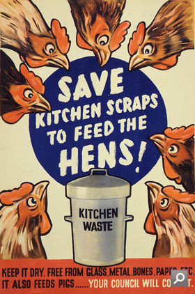 Save kitchen scraps to feed the hens (Cat ref INF13/143 f13)