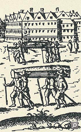Detail of London Scenes of the Plague 1665-6 (Museum of London)