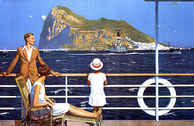 'Gibraltar' by Charles Pears for the Empire Marketing Board