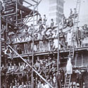 Workers constructing Marconi factory, 1912. Catalogue reference: COPY 1/566