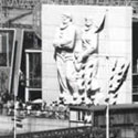 Festival Of Britain, 1951: Nelson Pier and sculpture 'The Islanders'. Catalogue reference: WORK 25/210