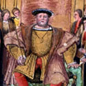Valor Ecclesiasticus: initial portrait of Henry VIII, [1535]. Catalogue reference: E 344/22