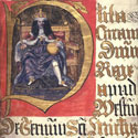 Illuminated initial portrait of Charles II, 1673. Catalogue reference: KB27/1880/2