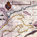 Atlas Maritimus: sea coast chart of the Gulf of St. Lawrence, Canada, 1698. Catalogue reference: FO 925/4111 folio 30