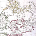 Factice Atlas by Guillaume de L'Isle: Far East map showing fictitious Lake Chamay in Burma and many other inaccuracies, 1700s. Catalogue reference: ZMAP 2/2 (38)
