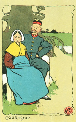 Courtship, Dutch scene, 1903. Catalogue reference: COPY 1/209 (127h)