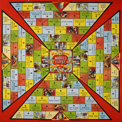 The New Game of Married First or Wedding Bells board game design. Catalogue reference: COPY 1/217(i) (216)