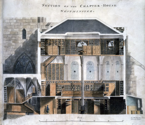 Section of the Chapter House, Westminster, 1807