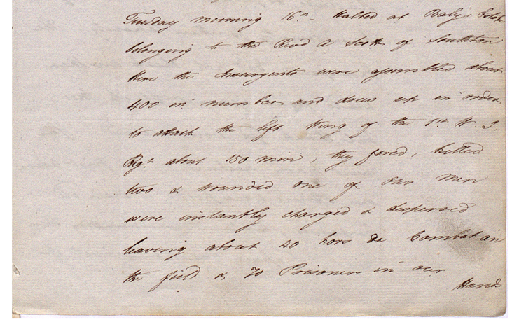 Extract of a private letter, St Ann's, Barbados. (CO 28/85)