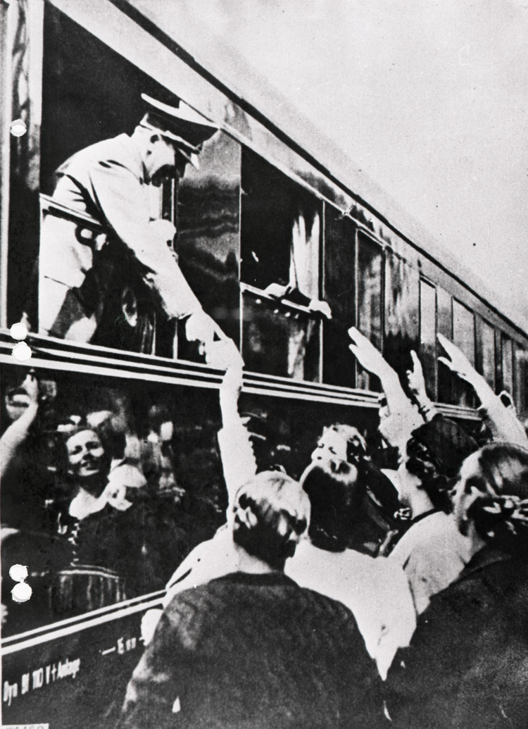 Adolf Hitler on board his train, c1941 (HS 6/624)