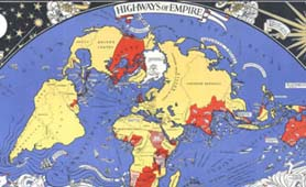 Empire Marketing Board 1927; 'Highways of Empire'. Artist: MacDonald Gill. Catalogue reference: CO 956/537 A