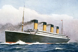 New image showcase marks the Titanic launch centenary (UK)