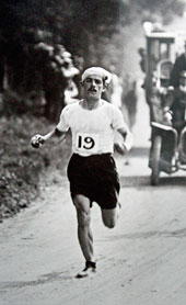 Dorando Pietri, Italian marathon runner, 1908. Courtesy of Cadbury Research Library