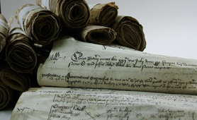 A collection of late 15th century Abbotsbury manor court rolls, held at the Dorset History Centre. Doc. ref: D/FS1 box p. Copyright: Dorset History Centre