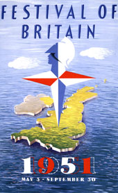 Festival of Britain poster 1951, catalogue reference WORK 25-234