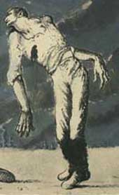 Detail from a Mervyn Peake artwork (Catalogue reference: INF 3/660)