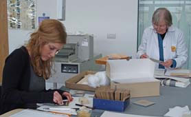 Cumbria Archives Service conservation volunteers