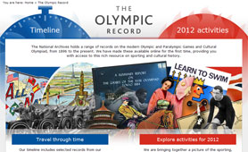 Olympic records available online (UK)