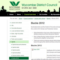 Buckinghamshire 2012 website