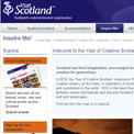 Creative Scotland 2012 website