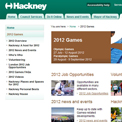 Hackney 2012 website