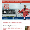 Big Dance 2012 website