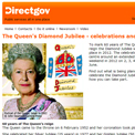 The Queen's Diamond Jubilee on Directgov