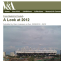 Victoria and Albert Museum - A Look at 2012 website