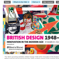 Victoria and Albert Museum - British Design 1948-2012 website