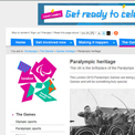 London 2012 Paralympic heritage website