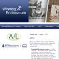 Winning Endeavours - archived website, British Library
