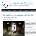 Culture at the Olympics website